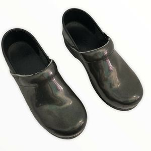 Dansko Iridescent Black Clog Shoes 38 US Size 8